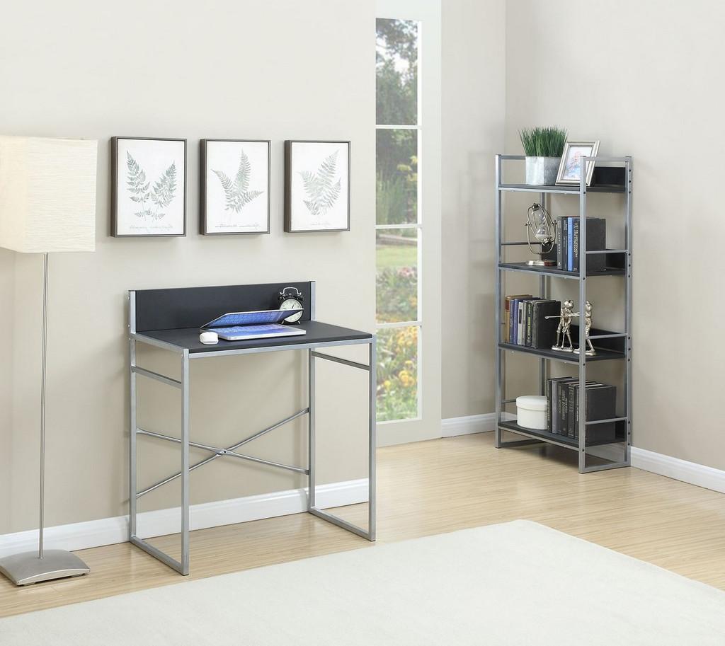 Writing Desk and 4-Tier Shelf