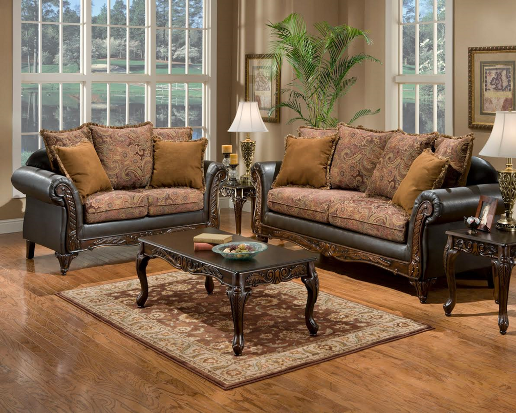 2PC Silas Sofa and Loveseat Set - 6300S
