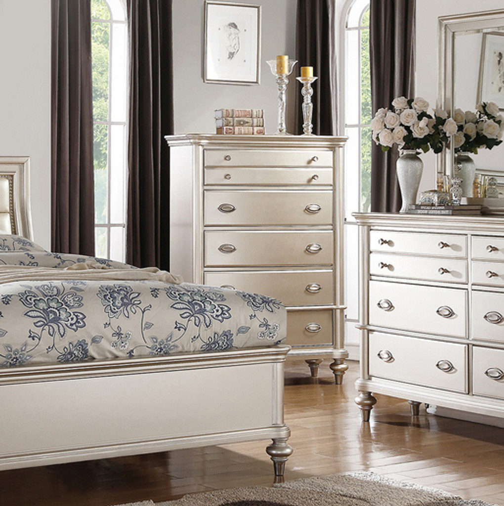 SILVER GLAM CHEST OF DRAWERS-F4393_CH