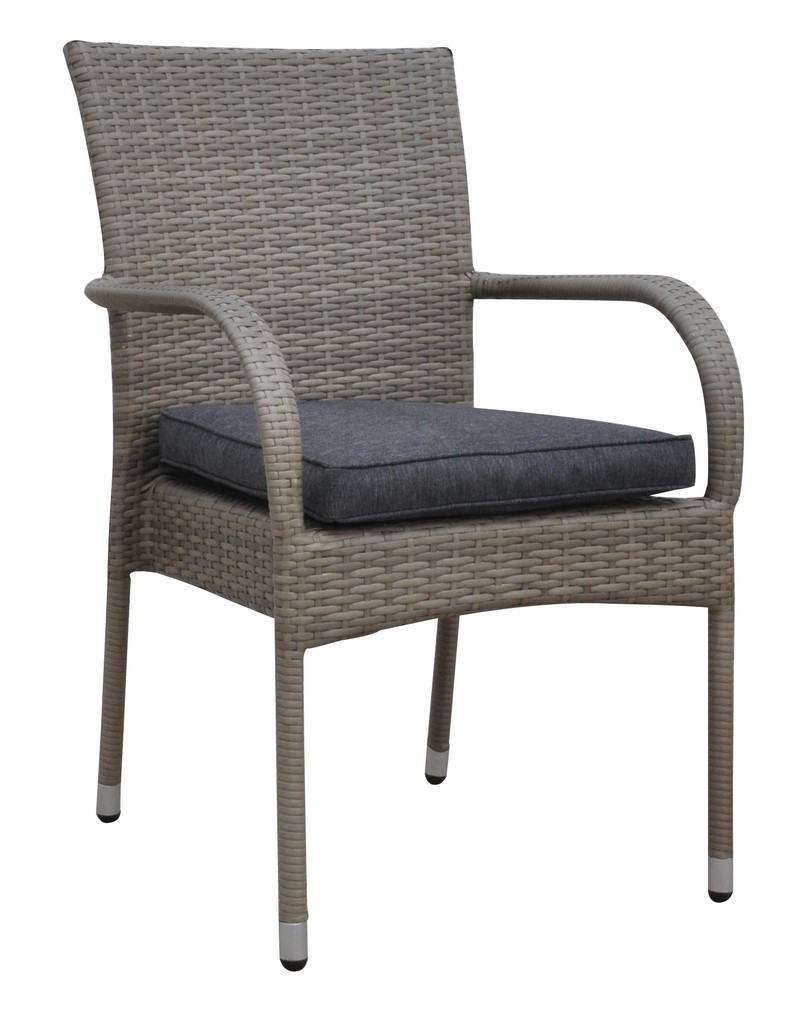 GREY OUTDOOR ARM CHAIR