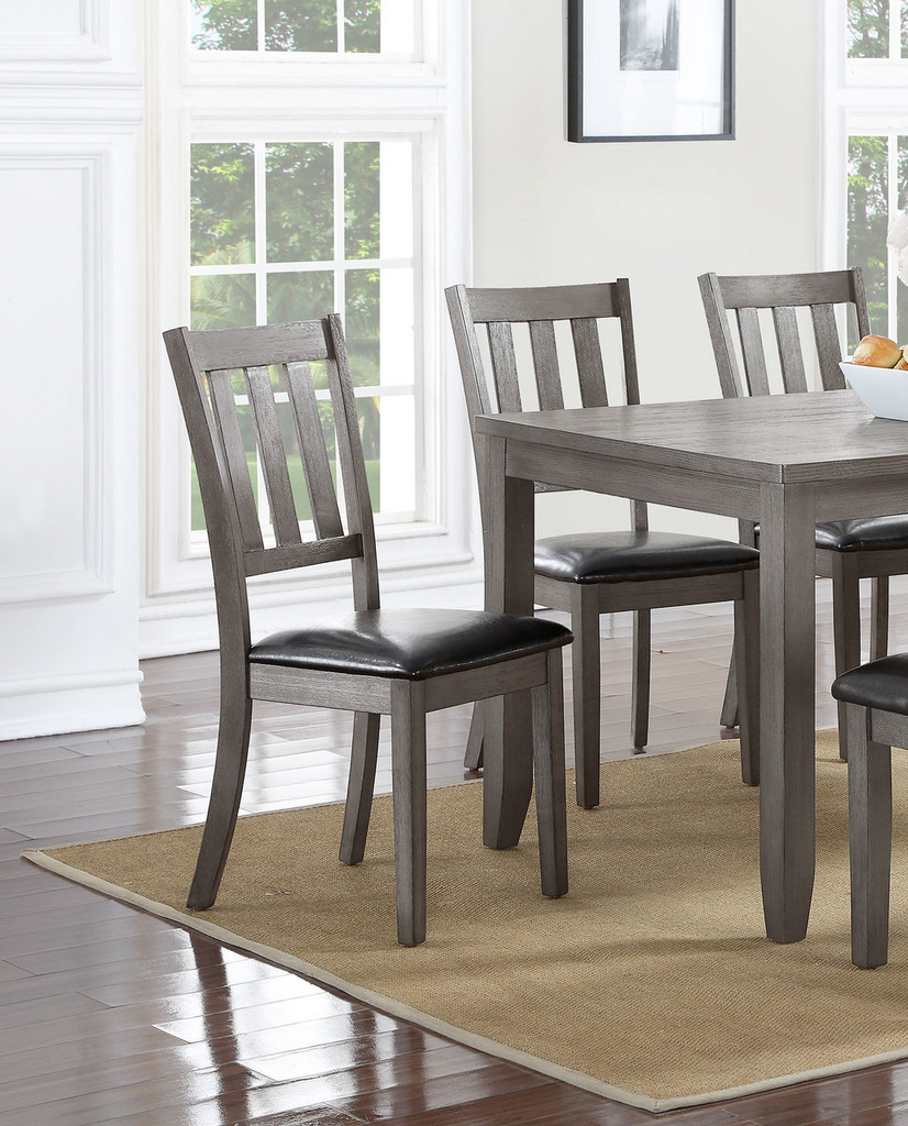 COSGROVE SIDE CHAIR GREY 2 PCS SET-2361S/GY