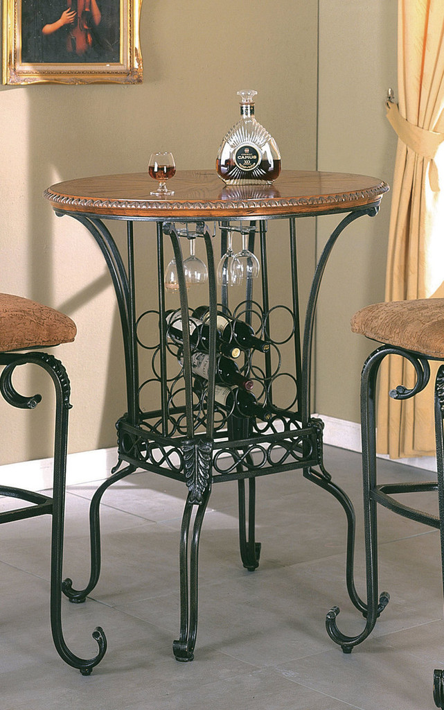 """Alyssa 35"""" Round Bar Table-2980/T"""
