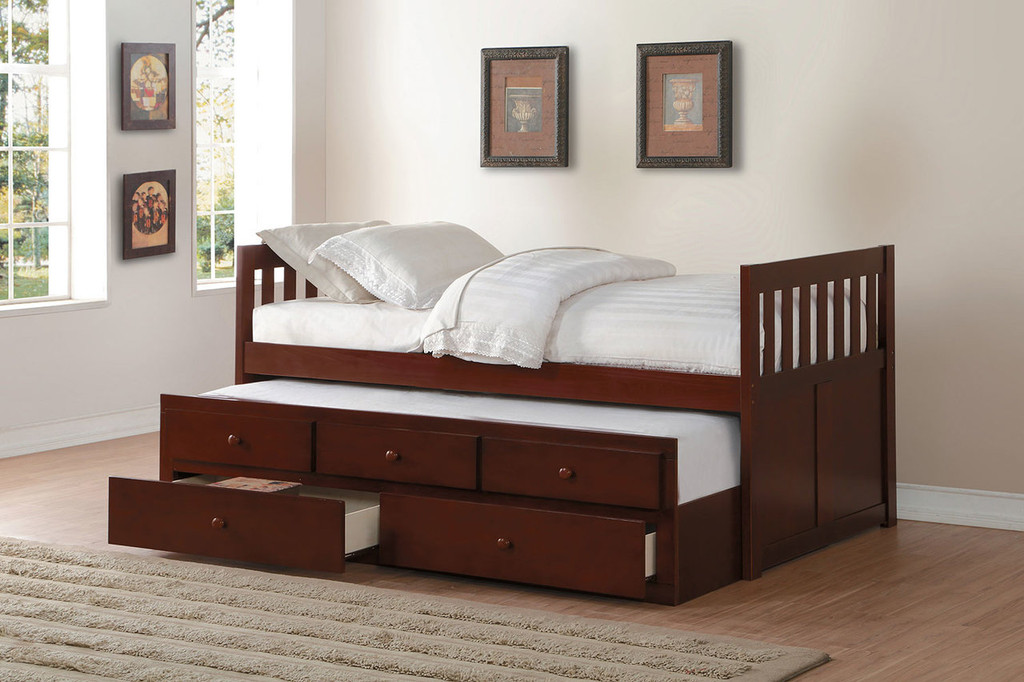 ROWE TWIN BED WITH TRUNDLE AND STORAGE DRAWERS-B2013PRDC