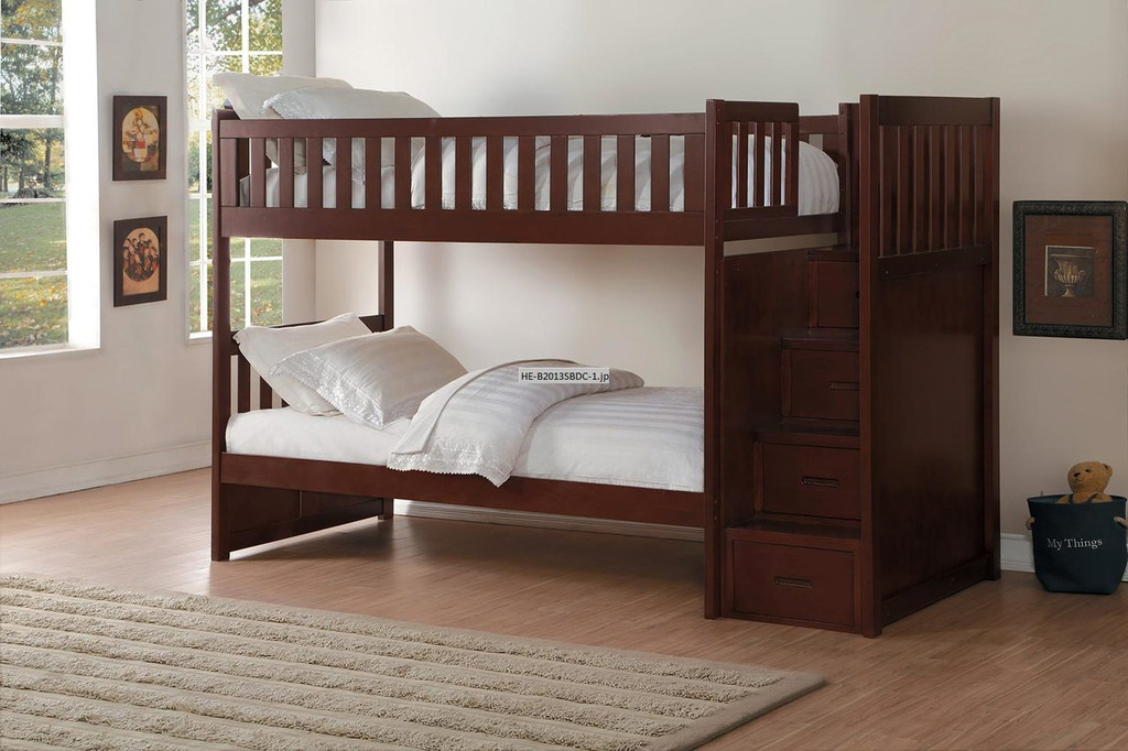 ROWE BUNK BED WITH REVERSIBLE STEP STORAGE-B2013SBDC
