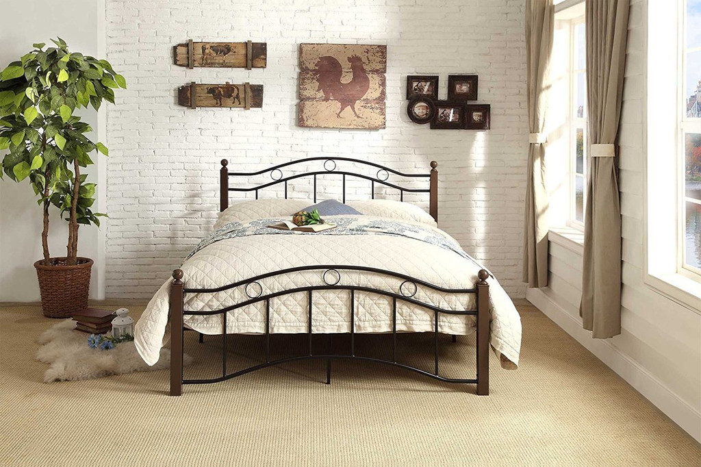 AVERNY COLLECTION METAL PLATFORM BED-2020TBK