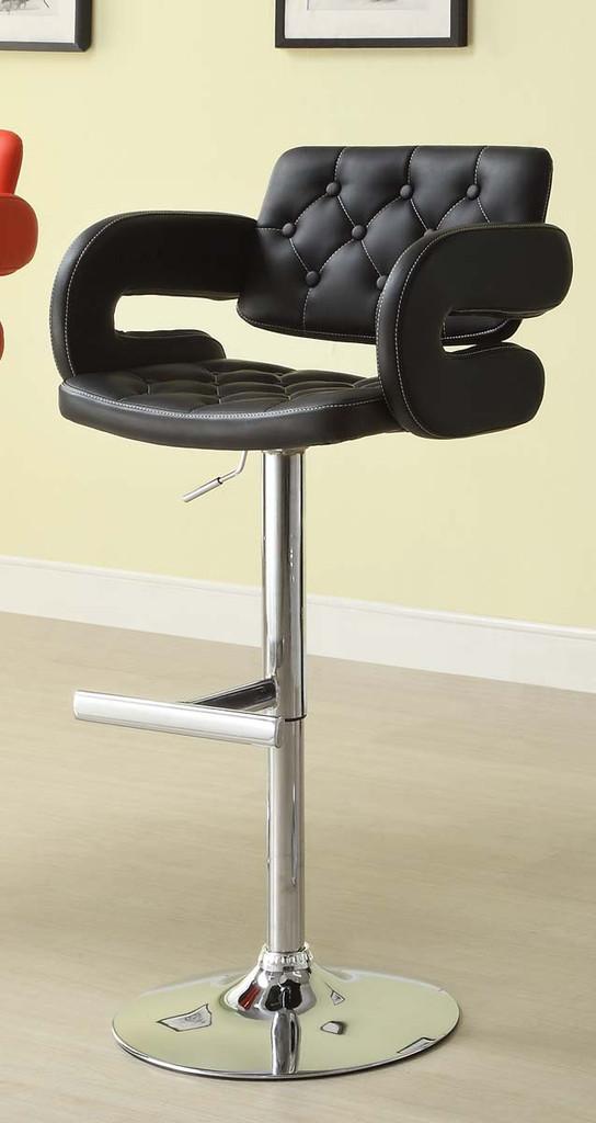 RIDE BLACK AIRLIFT SWIVEL STOOL 2 PCS SET-1178BLK