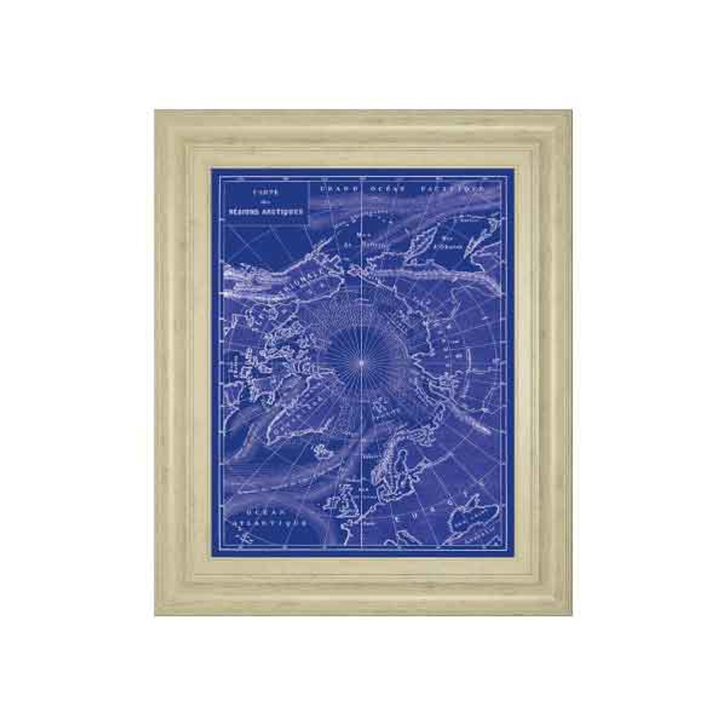 ARCTIC MAP BY THE VINTAGE COLLECTION 22x26