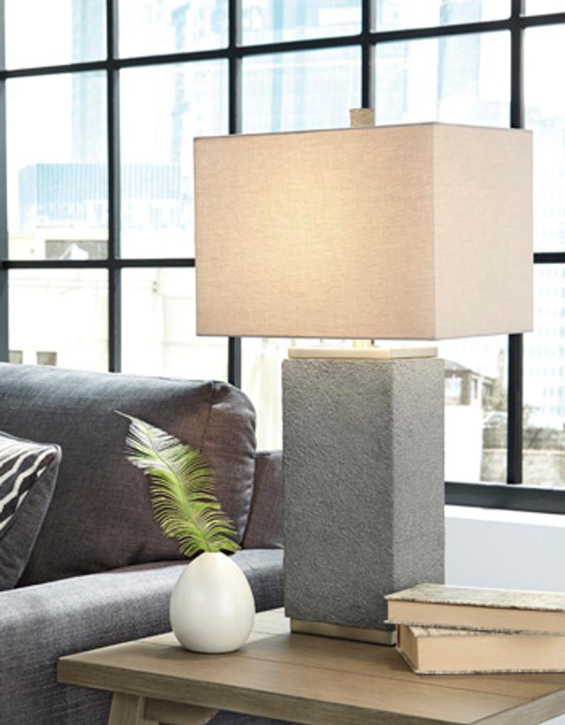Amergin Grain Poly Table Lamp Set of 2