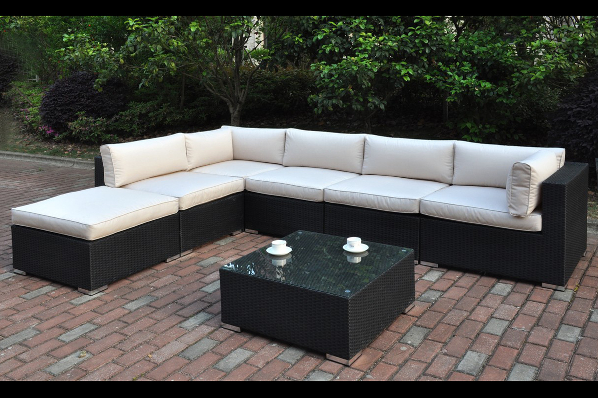Kassa Mall Home Furniture 427 7pc Outdoor Patio Sectional Set In