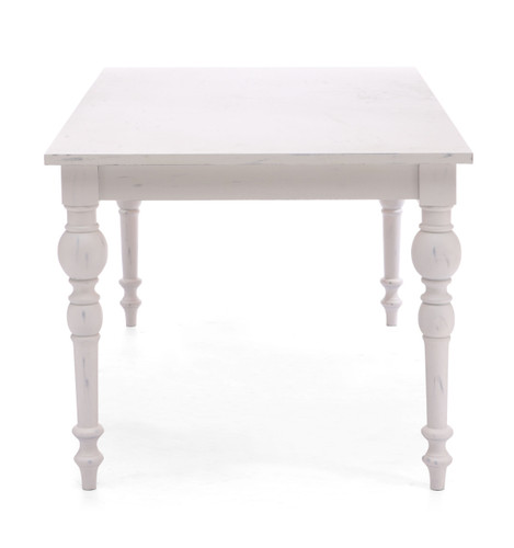 98042 Soma Dining Table Antique White 816226022142 Tables Modern Antique White Dining Table by  Zuo Modern Kassa Mall Houston, Texas Best Design Furniture Store Serving Houston, The Woodlands, Katy, Sugar Land, Humble, Spring Branch and Conroe
