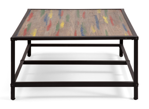 98312 Sawyer Coffee Table Multicolor Distressed Natural 816226027307 Tables Modern Multicolor Distressed Natural Coffee Table by  Zuo Modern Kassa Mall Houston, Texas Best Design Furniture Store Serving Houston, The Woodlands, Katy, Sugar Land, Humble, Spring Branch and Conroe