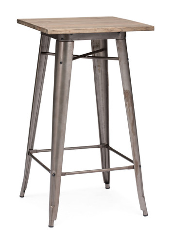 601188 Titus Bar Table Rustic Wood 816226023637 Tables Modern Rustic Wood Bar Table by  Zuo Modern Kassa Mall Houston, Texas Best Design Furniture Store Serving Houston, The Woodlands, Katy, Sugar Land, Humble, Spring Branch and Conroe