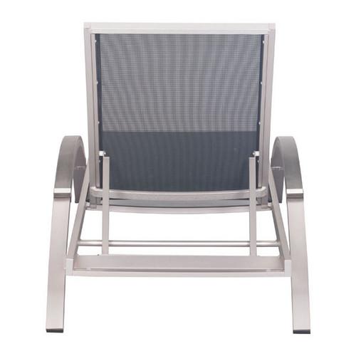 Metropolitan Chaise Lounge Brushed Aluminum