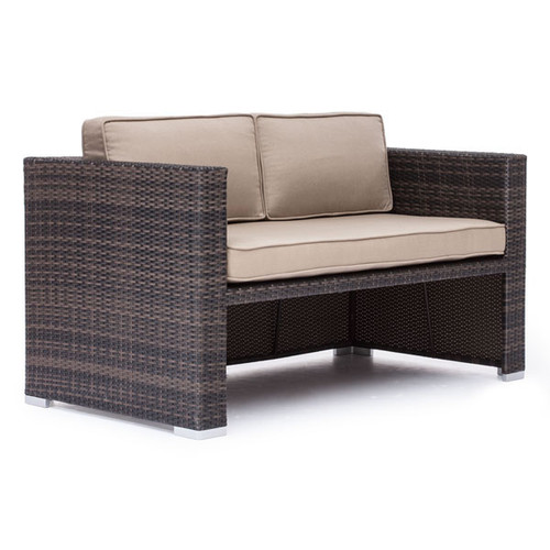 Deep Water Loveseat Dining Set Brown