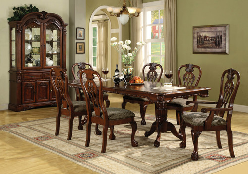 Brussels Dining Table Top with 4 Side Chairs