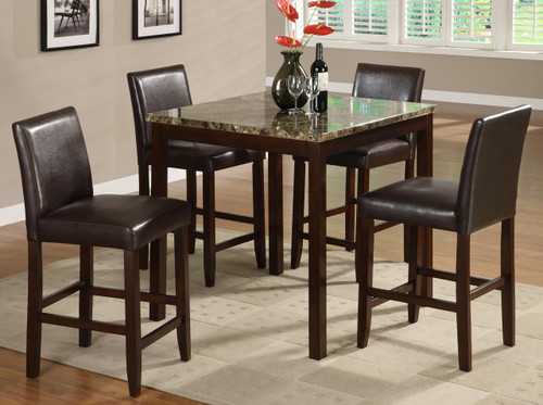 ANISE COUNTER HEIGHT DINING TABLE TOP 5 Piece Set