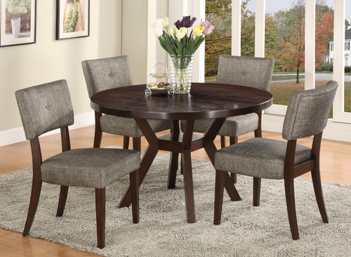 Kayla Dining Table Top with 4 Side Chairs
