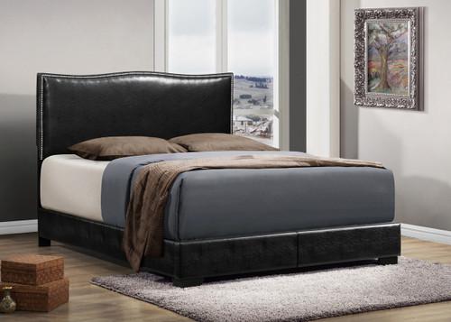 Jesper Black Leather Bed Frame