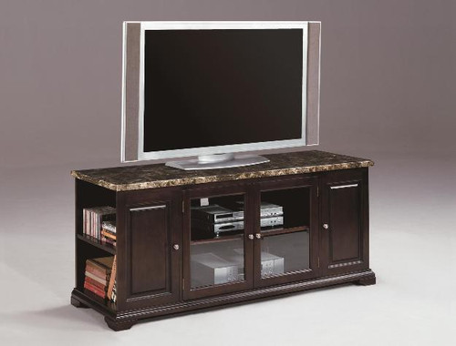 HARRIS ENTERTAINMENT CONSOLE WITH MARBLE TOP
