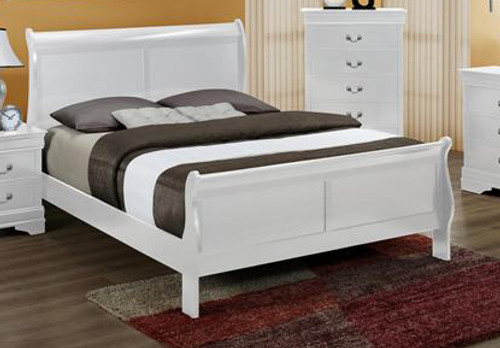 LOUIS PHILLIP BED IN WHITE