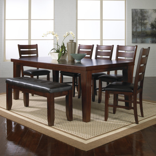"BARDSTOWN 5 PCS DINING TABLE SET w/ 18"" Leaf"
