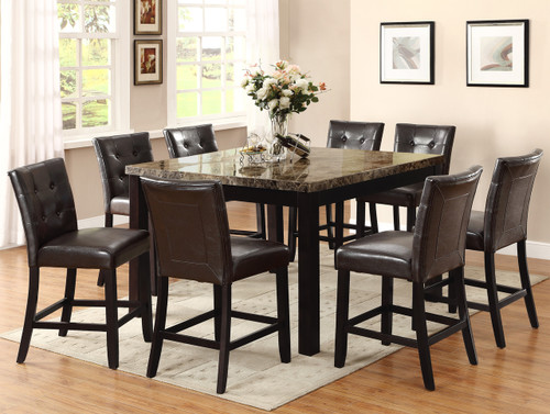BRUCE COUNTER HEIGHT DINING TABLE TOP 5 Piece Set