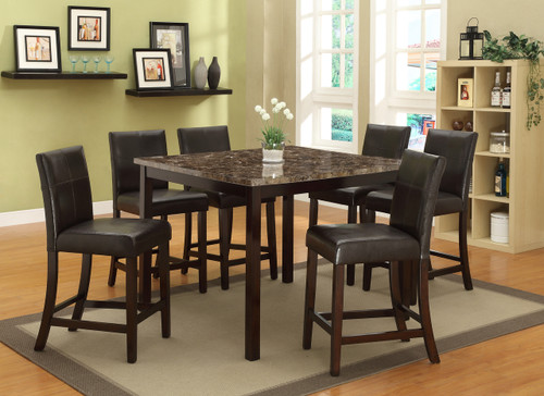 POMPEI COUNTER HEIGHT DINING TABLE TOP 5 Piece Set