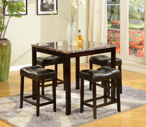 KINSEY COUNTER HEIGHT DINING TABLE TOP 5 Piece Set