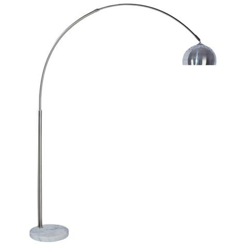 ARC FLOOR LAMP WITH DOME SHADE & MARBLE BASE