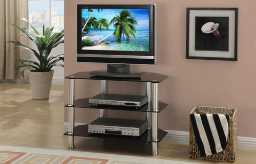 Entertainment TV Stand Chrome