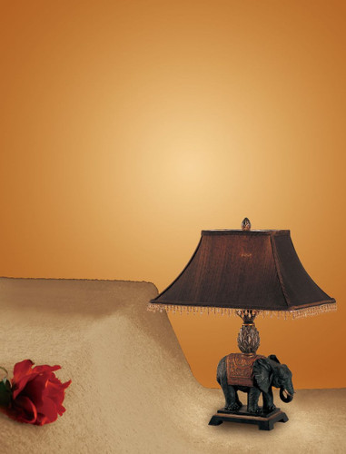 24'H ELEPHANT TABLE LAMP
