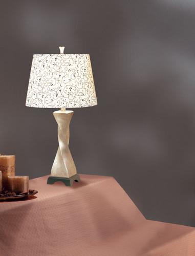 TABLE LAMP 27'H (WHITE)