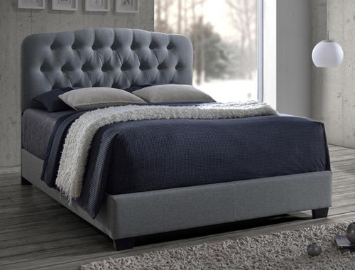 Gray Tufted Upholstered Tilda Bed