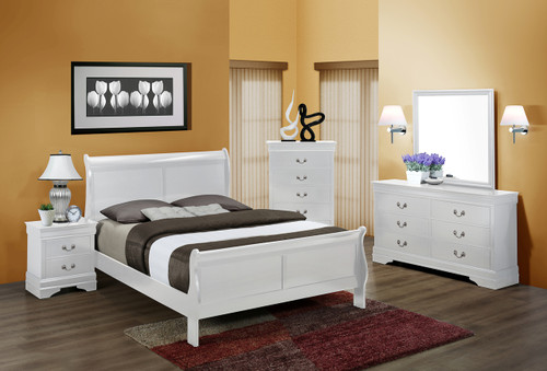 7PCS LOUIS PHILLIP BEDROOM SET IN WHITE