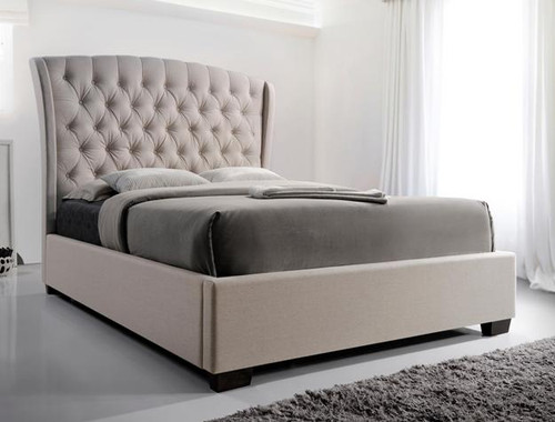 KAITLYN Botton Tufted Platform Bed (No Boxspring Required)