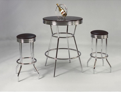 BAR TABLE/CHAIR SET (SWIVAL) TOP 3 Piece Set - 3905SET