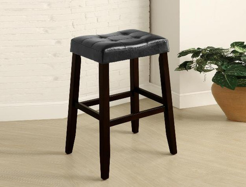 KENT SADDLE CHAIR BLACK PUB OR BAR STOOL  (SET OF 2)