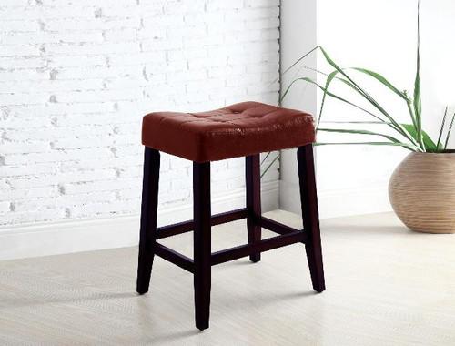 KENT SADDLE CHAIR RED PUB OR BAR STOOL  (SET OF 2)