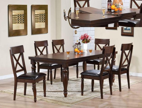 """SMITHSON 5-PK DINING TBL TOP (WITH 18"""" B-LEAF)"""