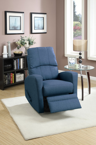 SWIVEL RECLINER CHAIR IN NAVY COLOR