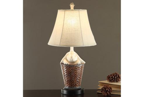 "BASKET-WEAVE TEXTURED BASE LAMP 23"" H (2 LAMPS)"