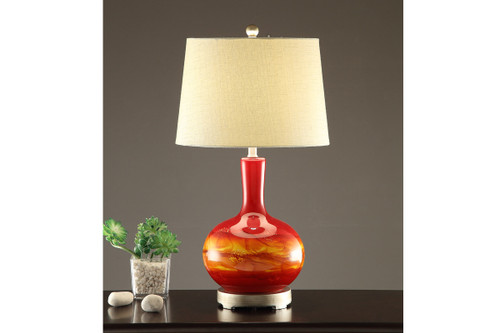 """EARTHLY VIBRANT TABLE LAMP 28""""H (2 LAMPS)"""