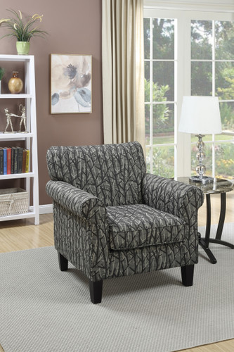 ACCENT CHAIR IN PRINT FOREST COLOR