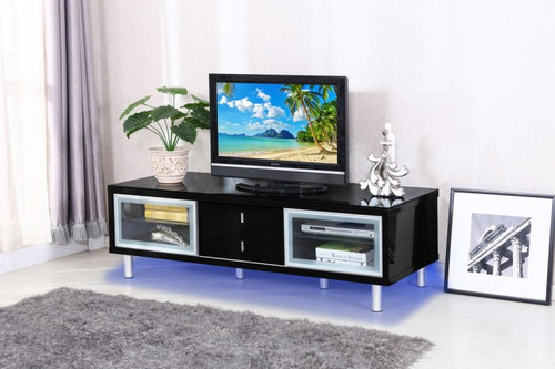 BRASOV TV STAND IN BLACK GLOSSY