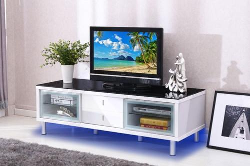 BRASOV TV STAND IN WHITE GLOSSY