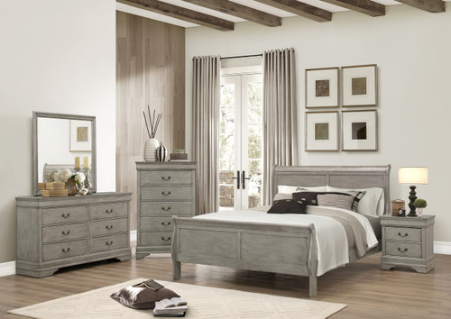 7PCS LOUIS PHILLIP BEDROOM SET IN GREY