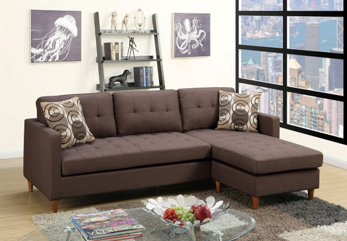 2PC RINA REVERSIBLE SECTIONAL IN CHOCOLATE