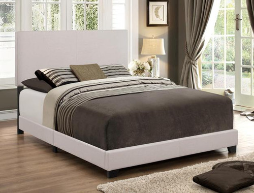ERIN KHAKI FABRIC UPHOLSTERED BED