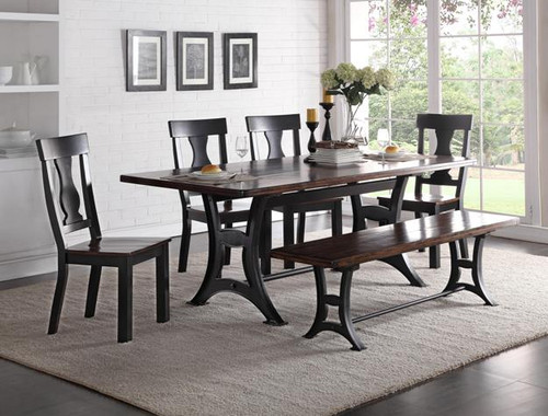ASTOR WOOD CHAIRS DINING SET (5PC SET)