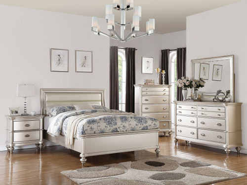 SILVER GLAM BEDROOM BED PLATFORM